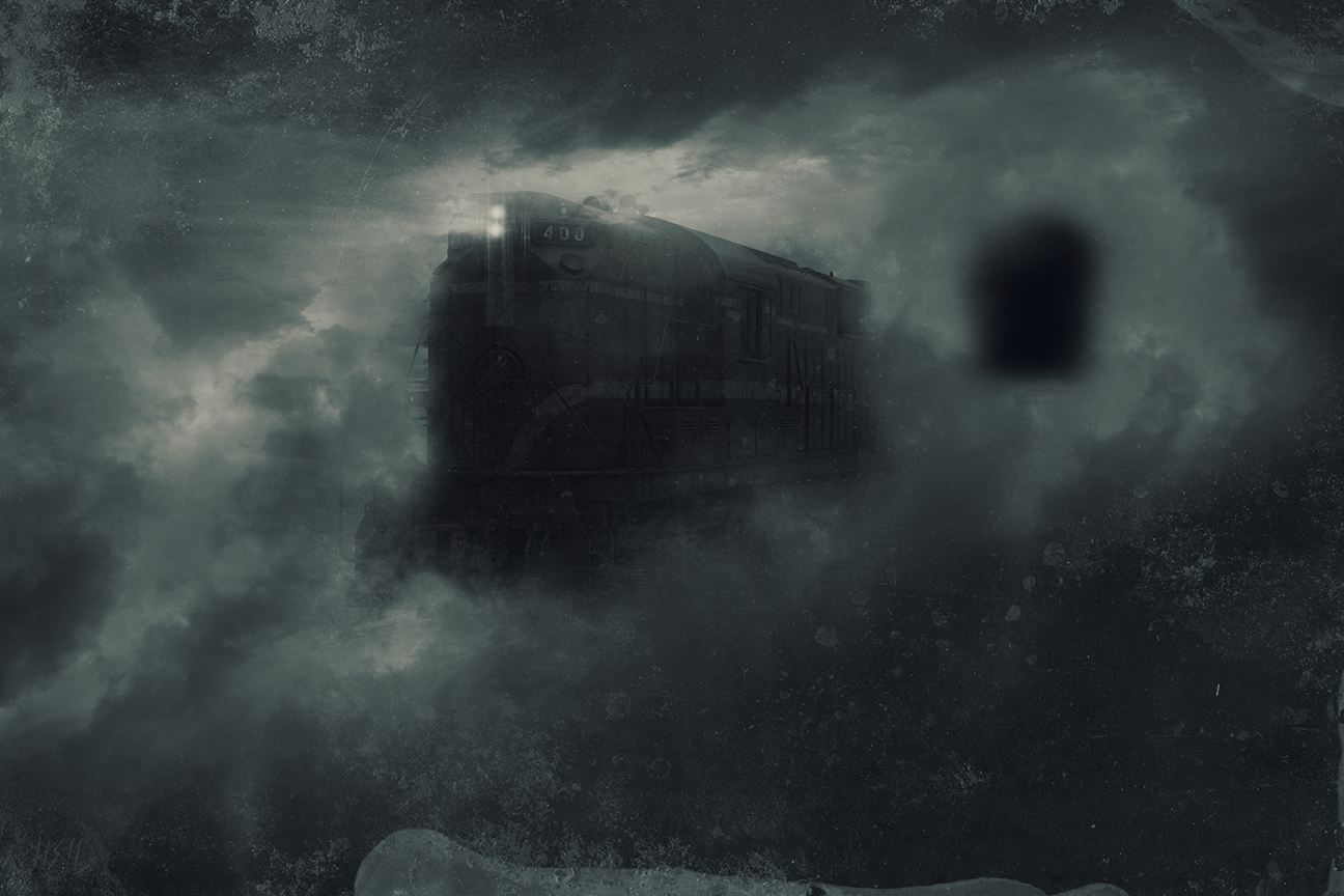 Recent digital artwork titled : The old Ghost Train